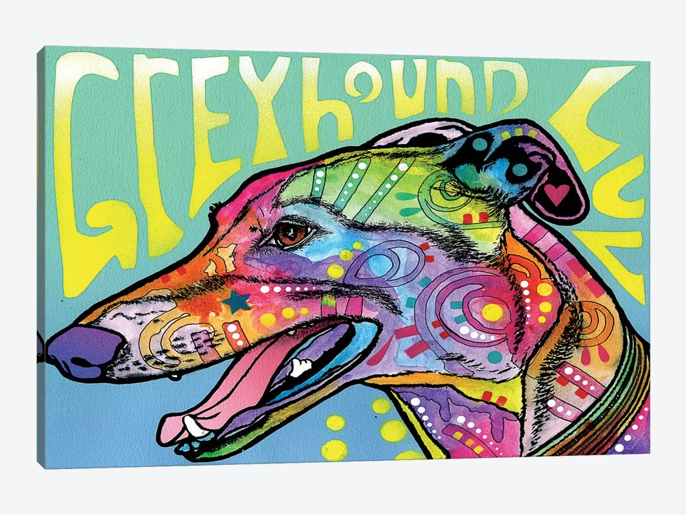 Greyhound Luv by Dean Russo 1-piece Canvas Wall Art