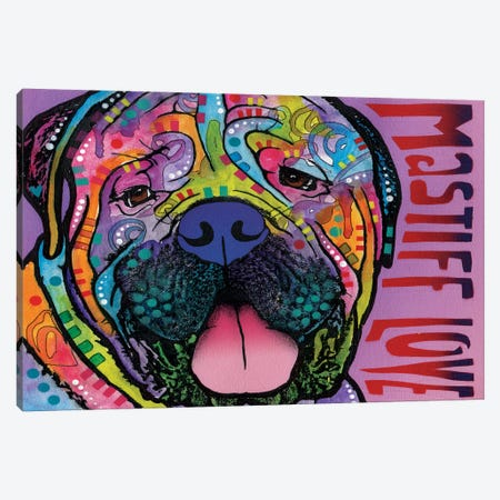 Mastiff Love Canvas Print #DRO250} by Dean Russo Canvas Artwork