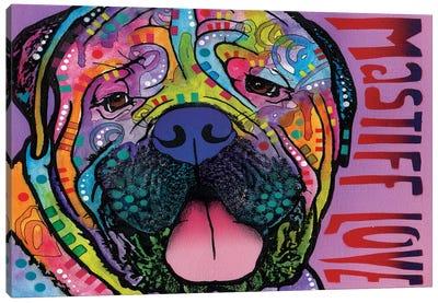 Mastiff Love Canvas Art Print