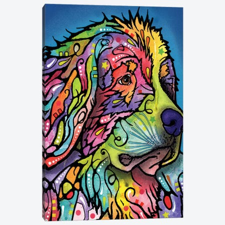 Mountain Dog Canvas Print #DRO251} by Dean Russo Canvas Wall Art