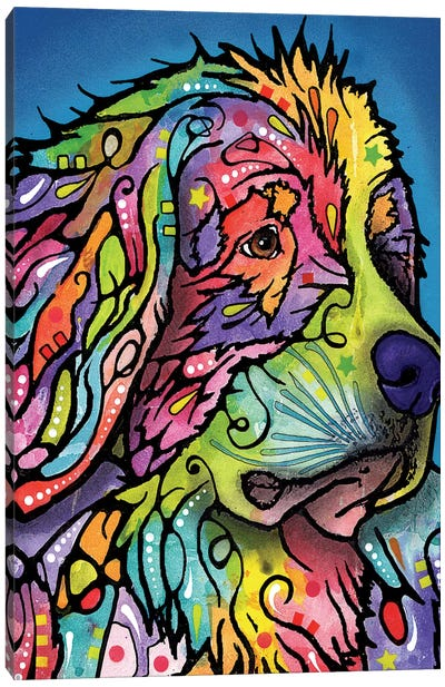 Mountain Dog Canvas Art Print