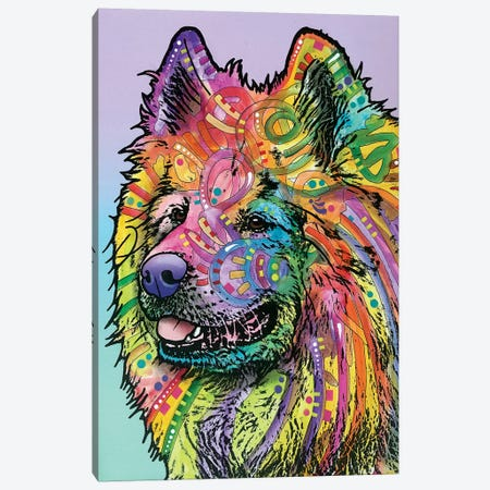 Samoyed Canvas Print #DRO252} by Dean Russo Canvas Art