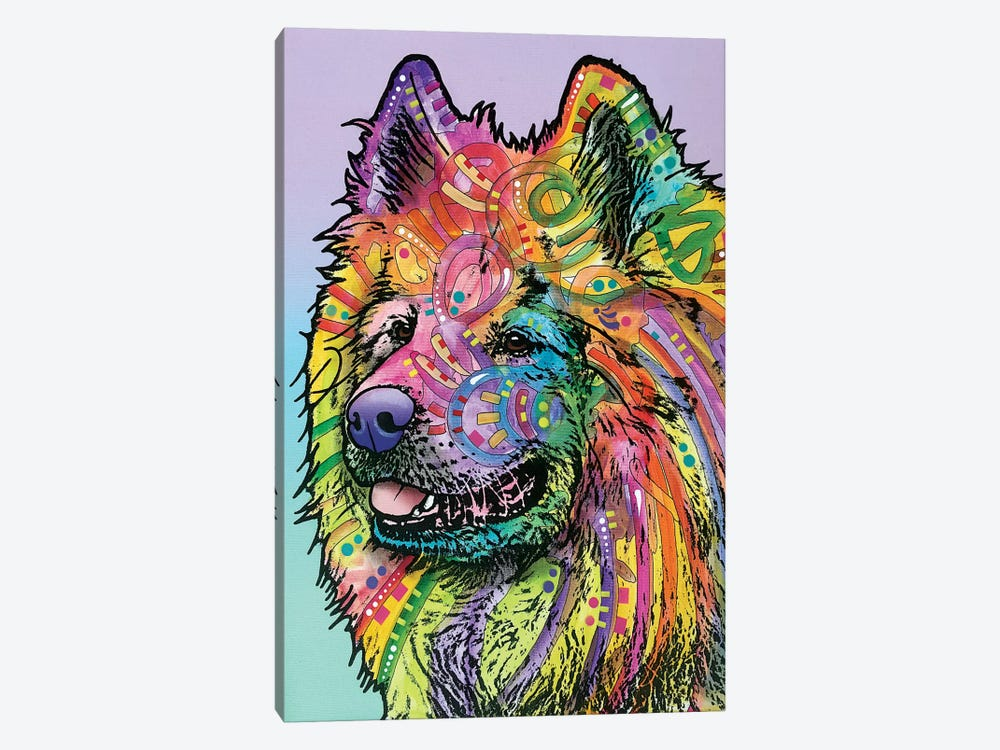 Samoyed by Dean Russo 1-piece Art Print