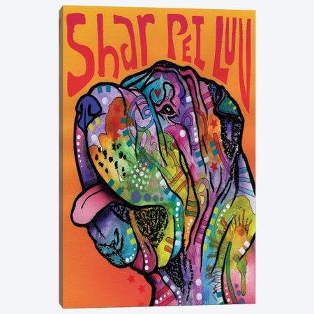 Shar Pei Luv Canvas Print #DRO253} by Dean Russo Canvas Artwork