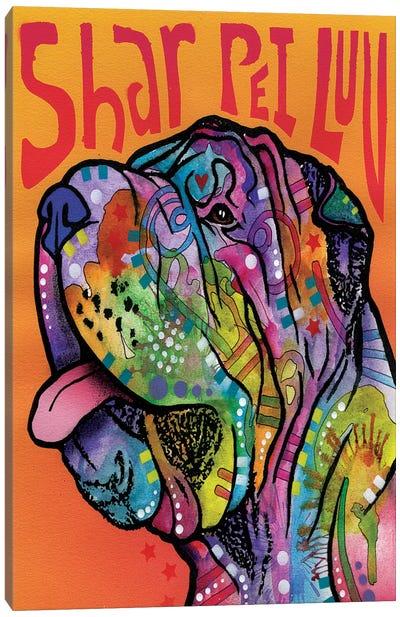 Shar Pei Luv Canvas Art Print