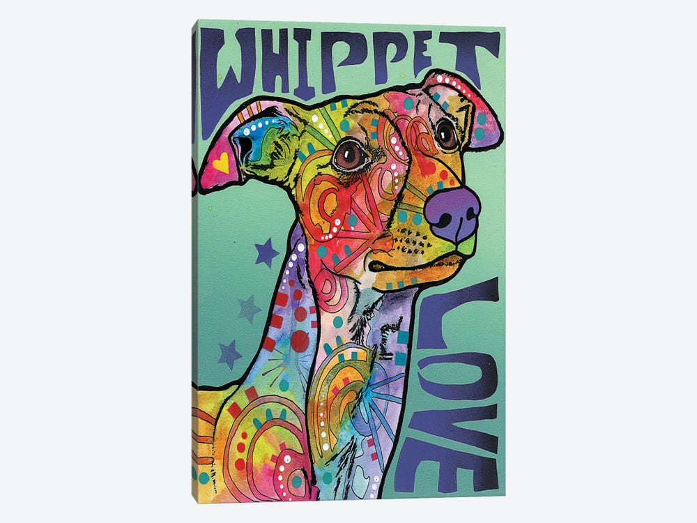 Whippet Love by Dean Russo 1-piece Canvas Print