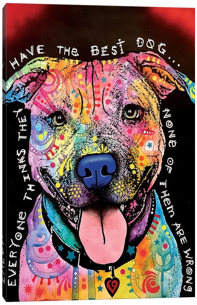Best Dog Canvas Art Print