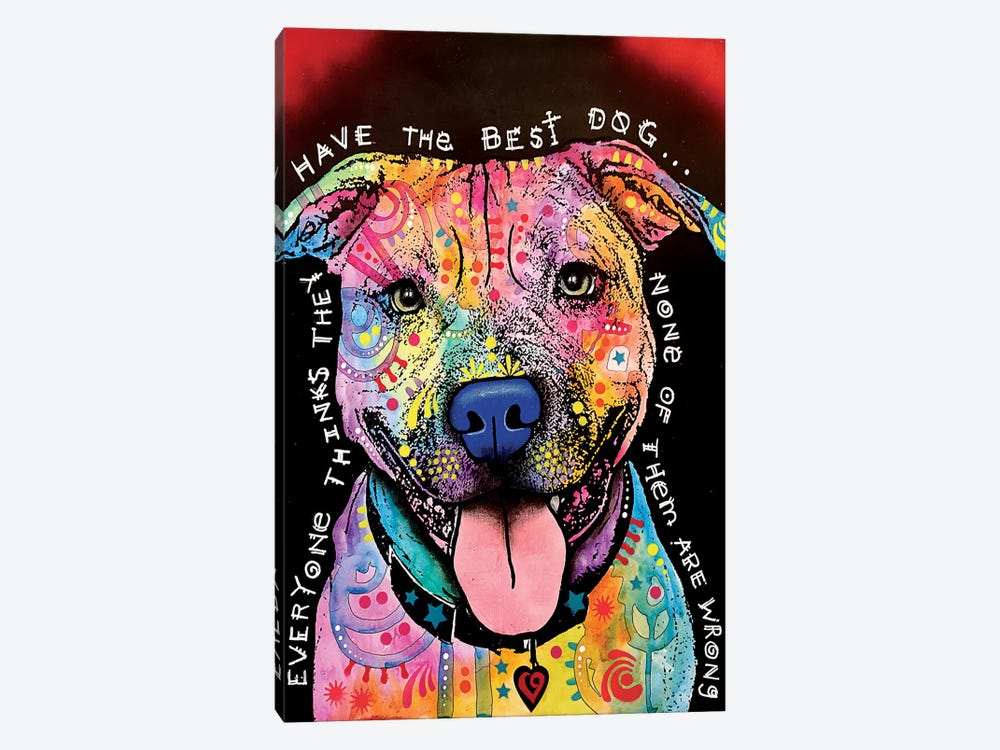 Best Dog by Dean Russo 1-piece Canvas Artwork