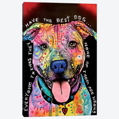 Best Dog 3-Piece Canvas #DRO257} by Dean Russo Canvas Print