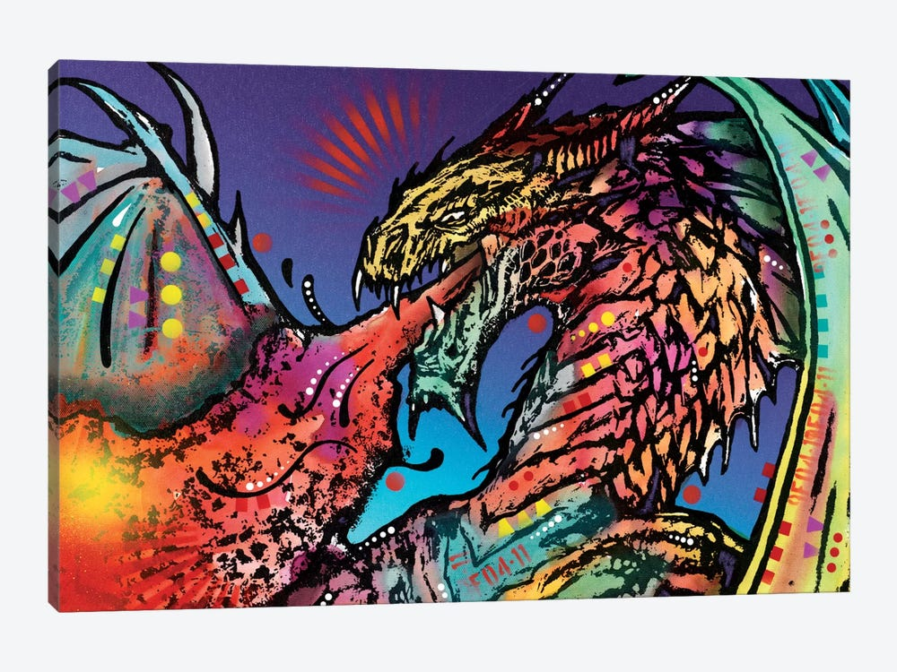 Dragon by Dean Russo 1-piece Canvas Art Print