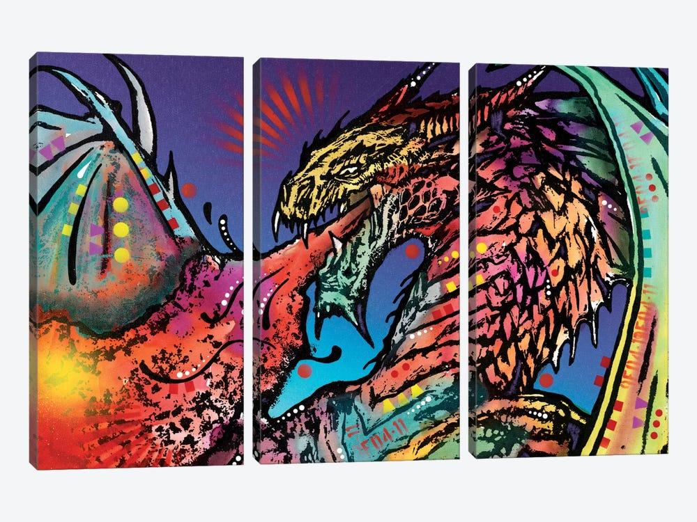 Dragon by Dean Russo 3-piece Canvas Art Print
