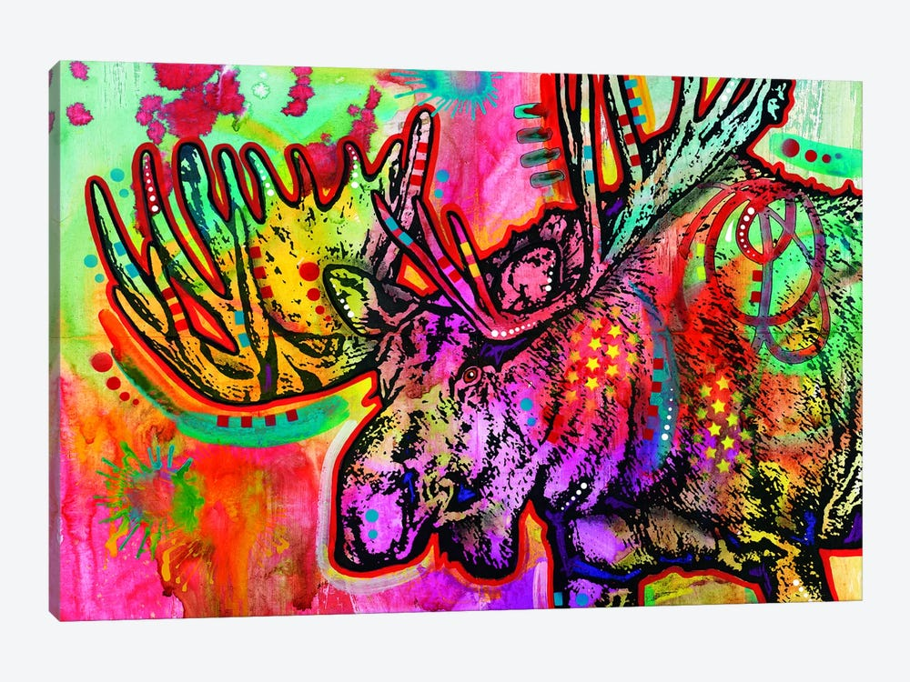 Moose by Dean Russo 1-piece Canvas Art Print