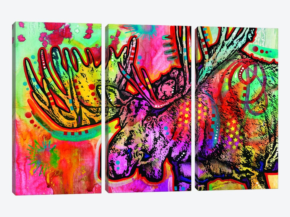 Moose by Dean Russo 3-piece Art Print