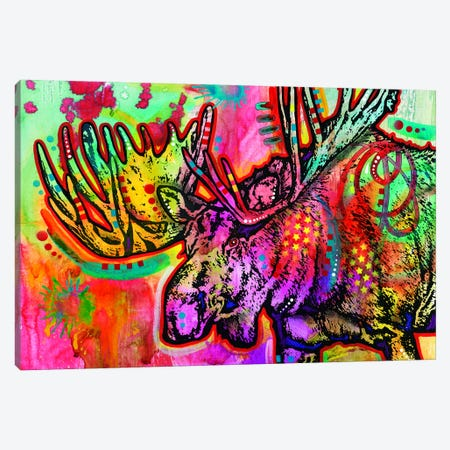 Moose Canvas Print #DRO265} by Dean Russo Canvas Wall Art