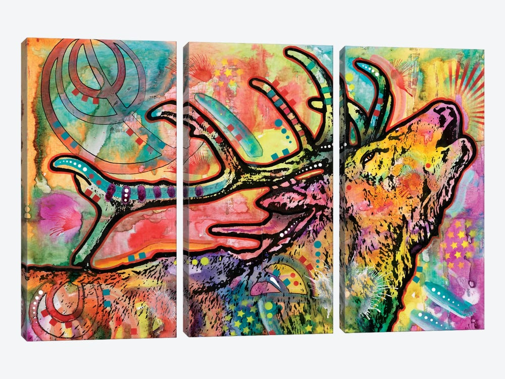 Stag by Dean Russo 3-piece Canvas Wall Art
