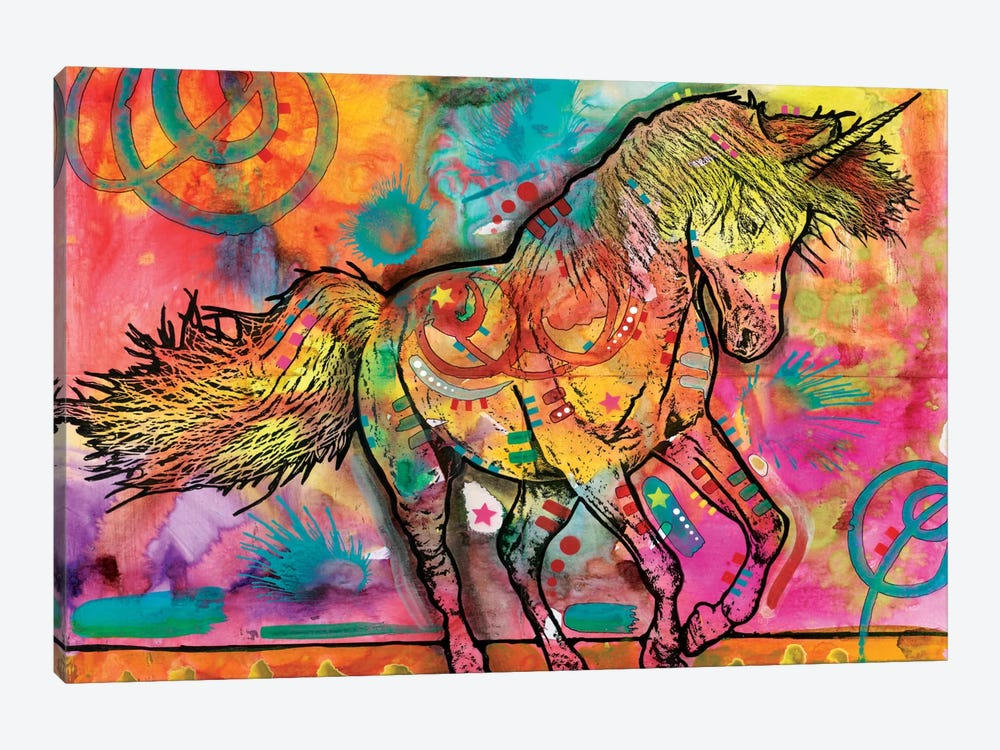 Unicorn by Dean Russo 1-piece Canvas Wall Art