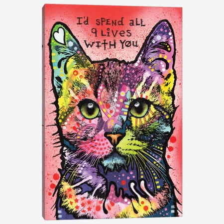 9 Lives Canvas Print #DRO271} by Dean Russo Canvas Wall Art