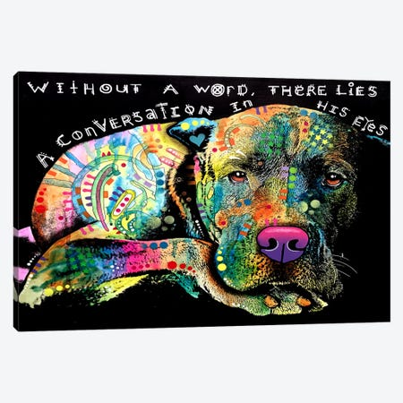 Without A Word Canvas Print #DRO276} by Dean Russo Art Print