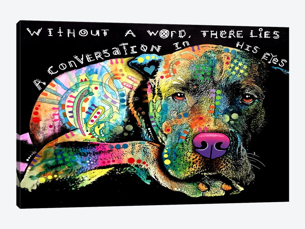 Without A Word by Dean Russo 1-piece Canvas Print