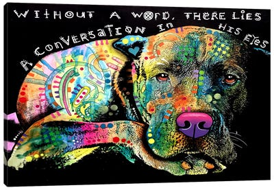 Without A Word Canvas Art Print