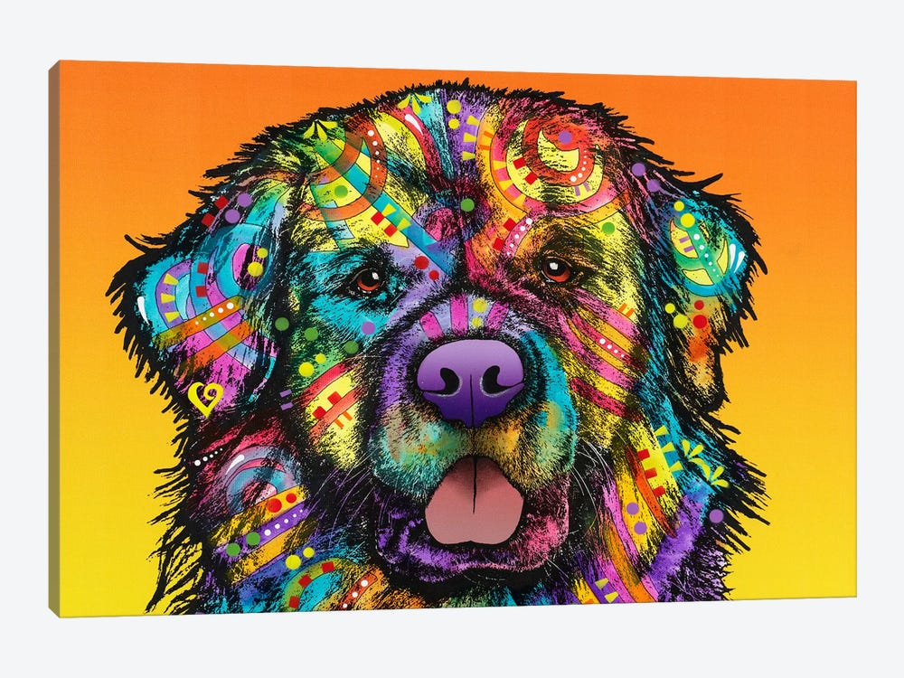 Newfie by Dean Russo 1-piece Canvas Print