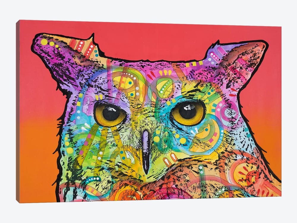 Red Owl by Dean Russo 1-piece Canvas Artwork