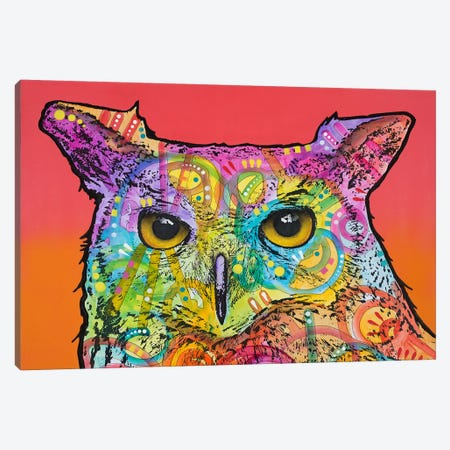 Red Owl Canvas Print #DRO282} by Dean Russo Art Print