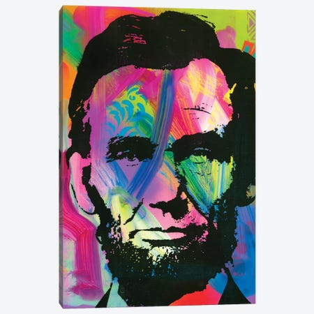 Abraham Lincoln I Canvas Print #DRO285} by Dean Russo Canvas Artwork