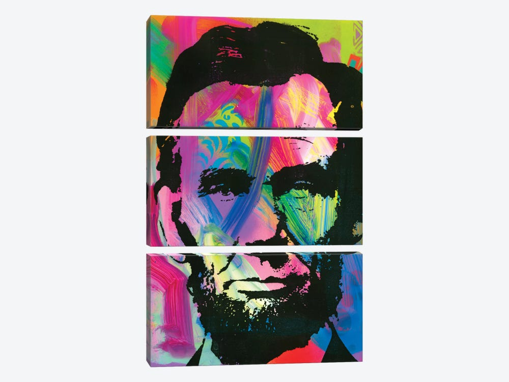 Abraham Lincoln I by Dean Russo 3-piece Art Print