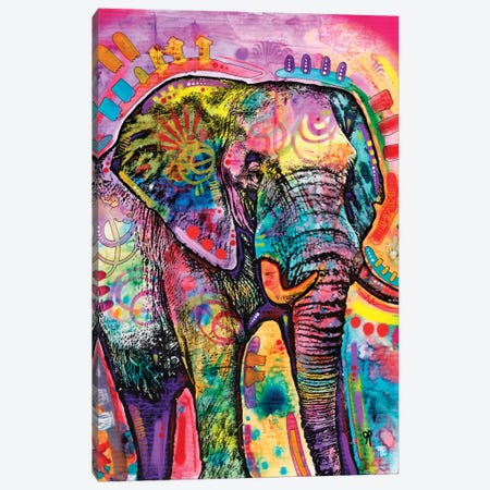 Elephant II Canvas Print #DRO292} by Dean Russo Canvas Artwork