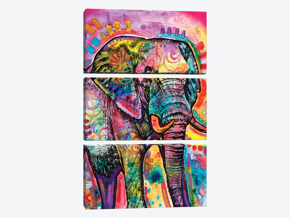 Elephant II by Dean Russo 3-piece Canvas Art Print