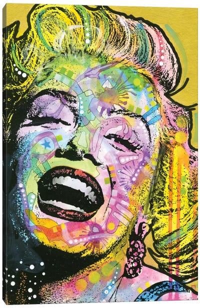 Golden Marilyn Canvas Print #DRO294