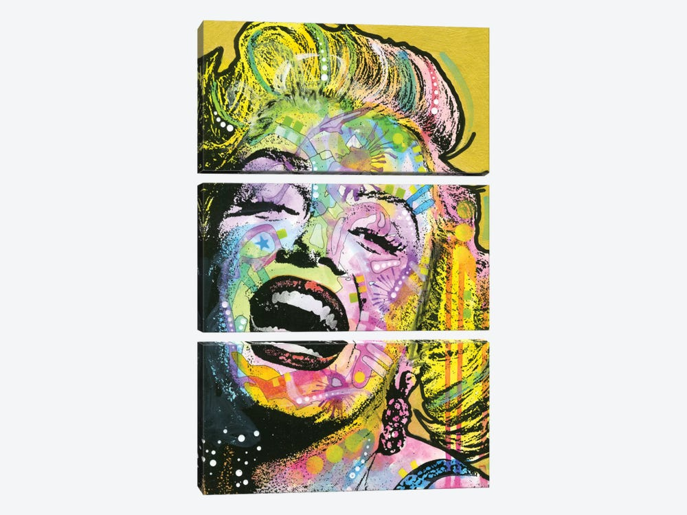 Golden Marilyn by Dean Russo 3-piece Art Print