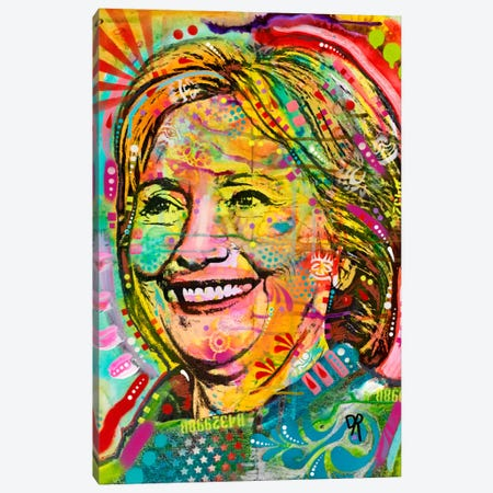 Hillary Canvas Print #DRO296} by Dean Russo Canvas Print