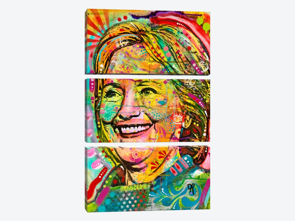 Hillary by Dean Russo 3-piece Canvas Print
