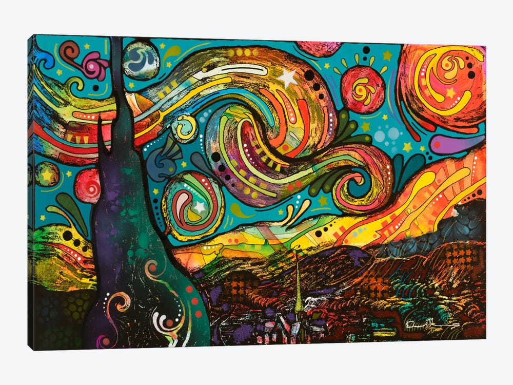 starry night canvas art by dean russo