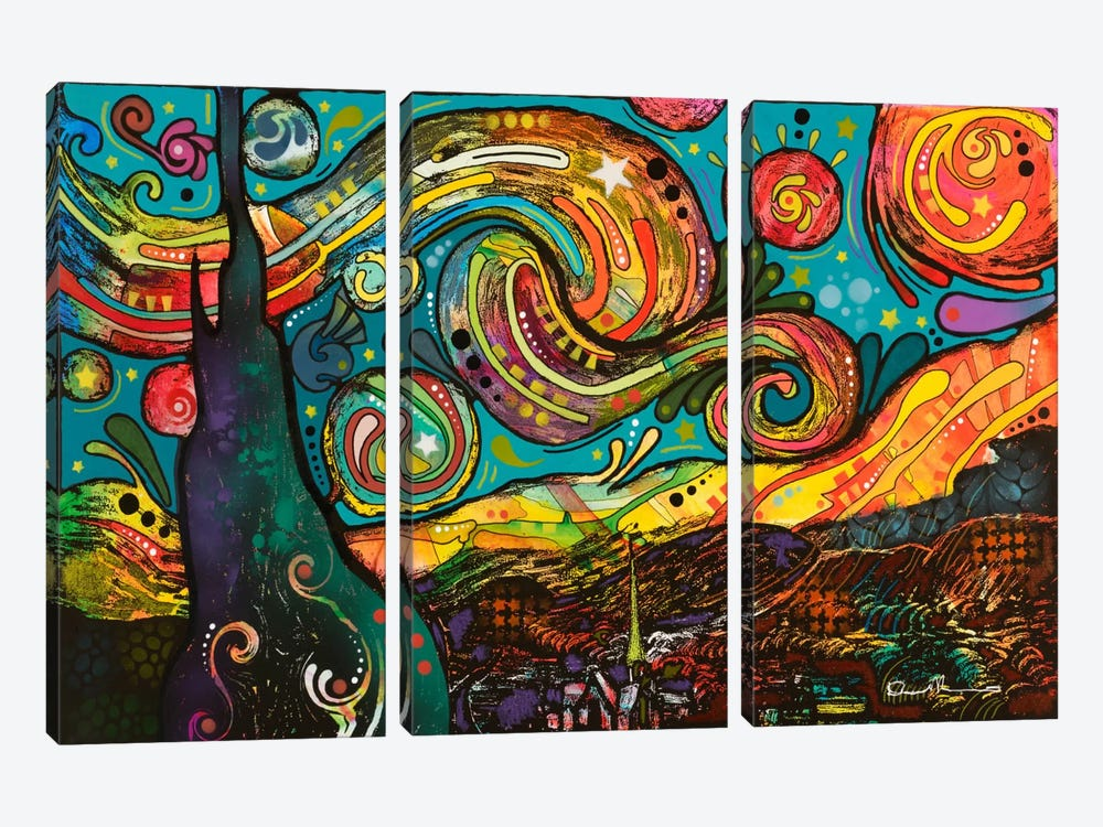 Starry Night by Dean Russo 3-piece Canvas Wall Art
