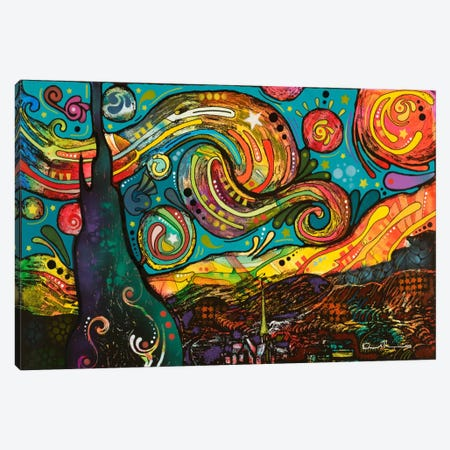 Starry Night 3-Piece Canvas #DRO2} by Dean Russo Canvas Print