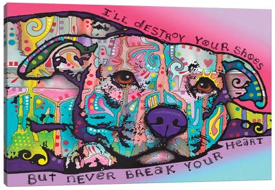 Never Break Your Heart Canvas Art Print