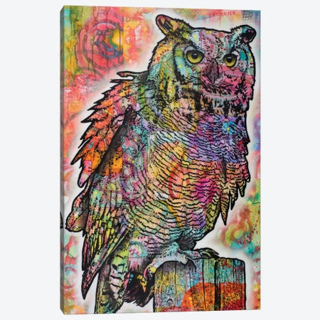 Owl Perch Canvas Print #DRO303} by Dean Russo Canvas Wall Art