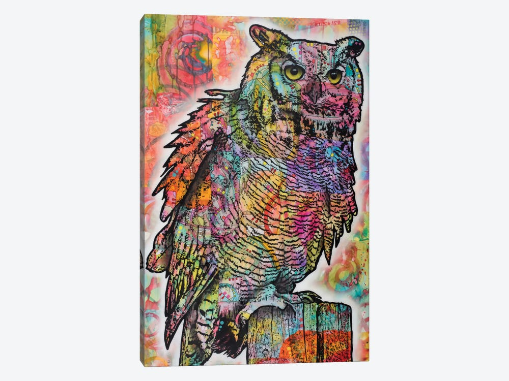 Owl Perch by Dean Russo 1-piece Canvas Wall Art