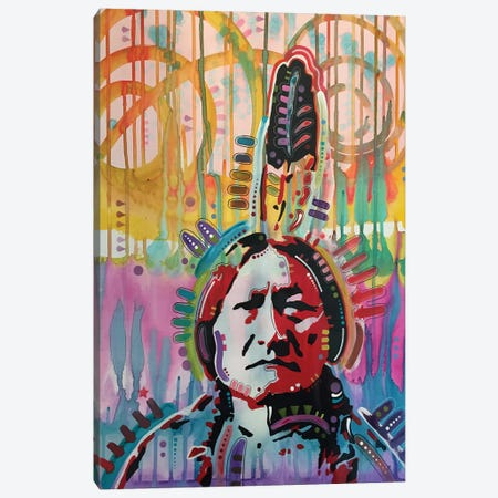 Sitting Bull II Canvas Print #DRO307} by Dean Russo Canvas Print