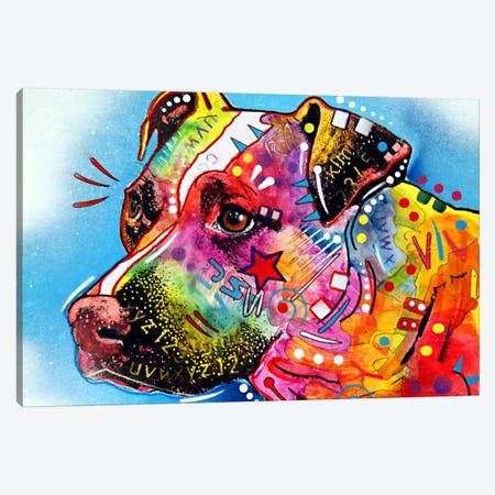 Pit Bull Canvas Print #DRO30} by Dean Russo Canvas Art Print