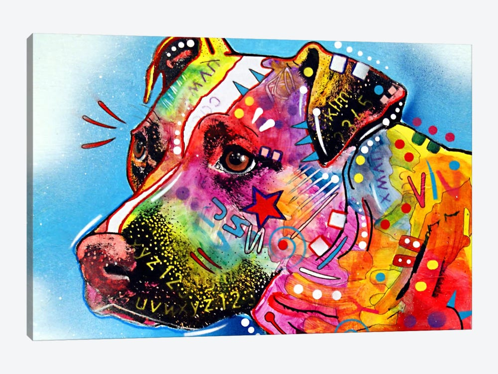 Pit Bull by Dean Russo 1-piece Canvas Art