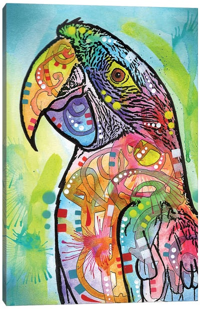 Macaw Canvas Art Print