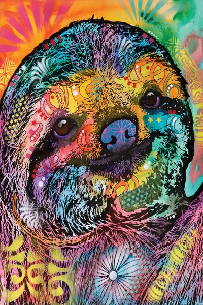 Sloth Canvas Wall Art By Dean Russo Icanvas