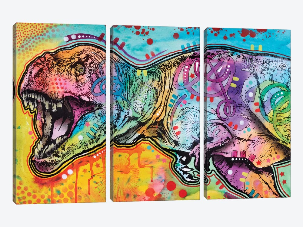 T-Rex II by Dean Russo 3-piece Art Print