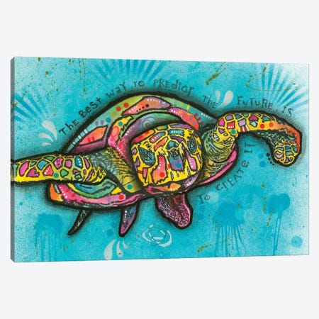 Turtle Canvas Print #DRO336} by Dean Russo Canvas Art