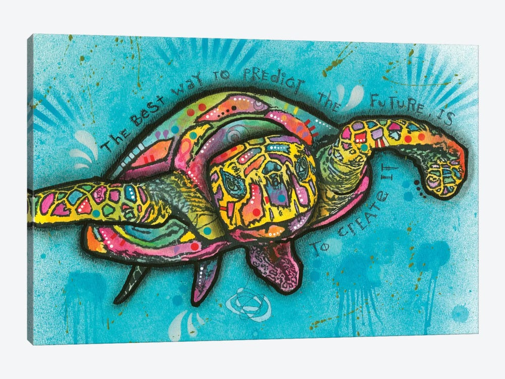 Turtle by Dean Russo 1-piece Canvas Wall Art