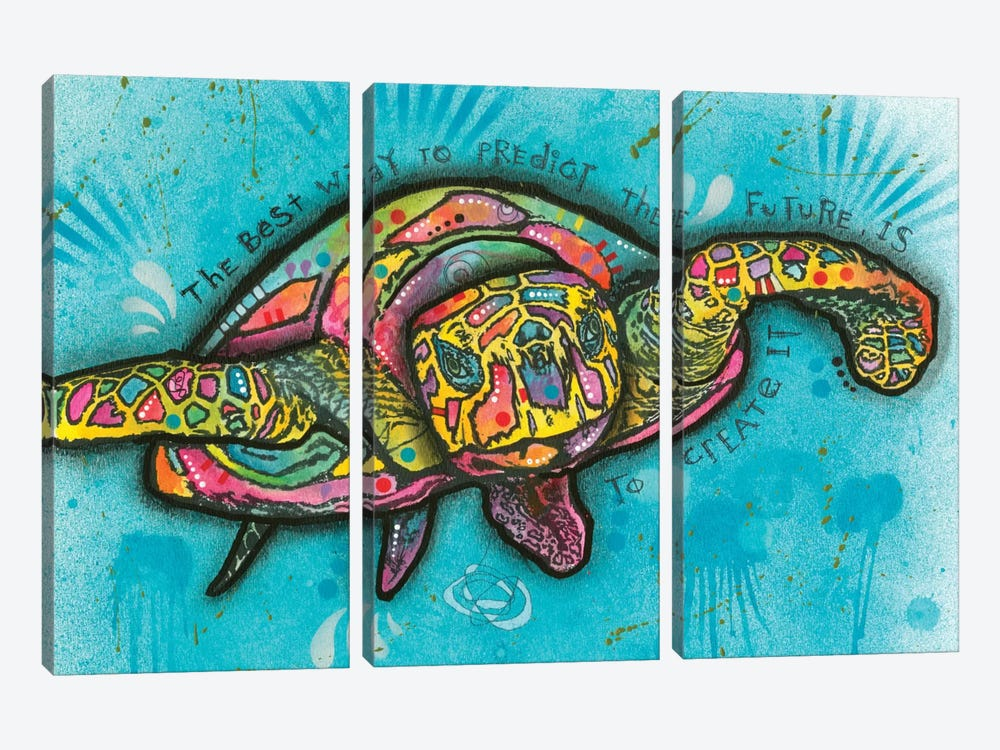 Turtle by Dean Russo 3-piece Canvas Artwork